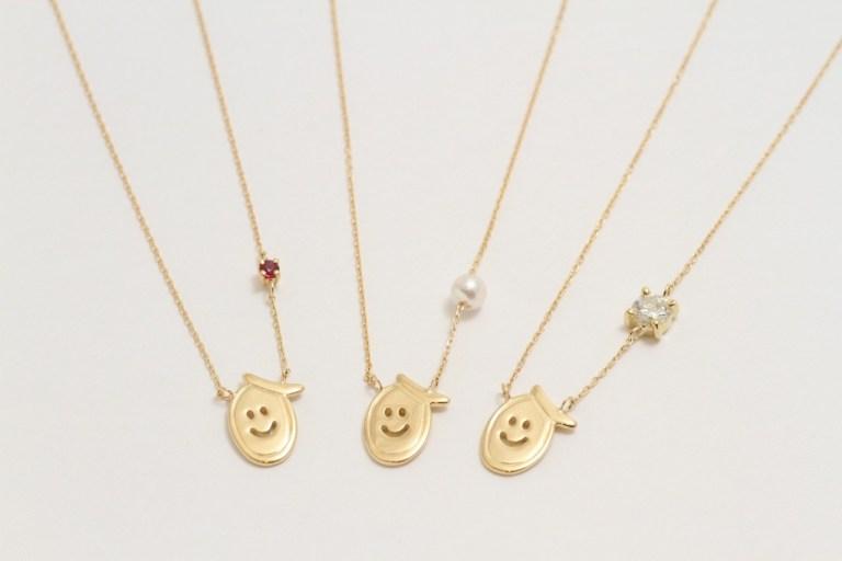オリジナルデザインのニコチャンデザインを3本のネックレスに加工しました。