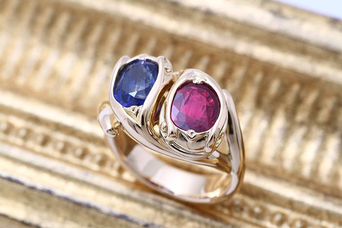 ルビー&サファイヤの指輪