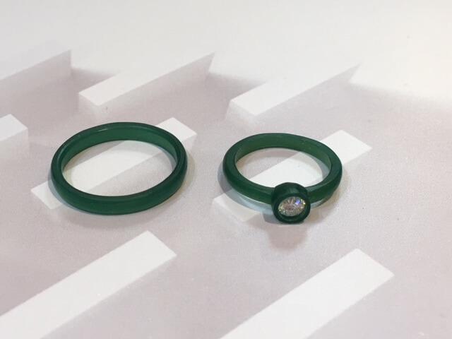 結婚指輪をワックスにて製作途中