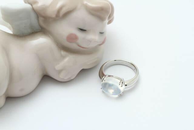 ムーンストーン指環