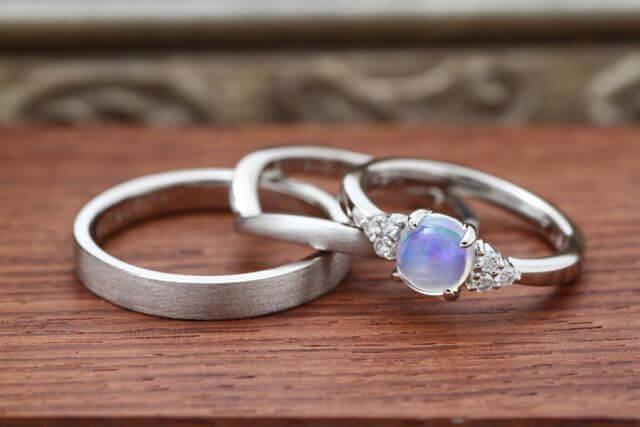 オーダーメイドの婚約指環&結婚指環が完成