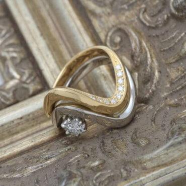 ダイヤモンドのジュエリーリフォーム完成です!