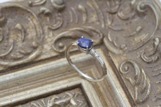 サファイヤの指輪をお仕立てしました