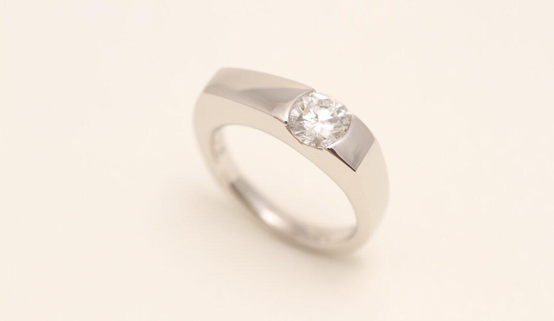 ダイヤモンド プラチナ 1カラット 指輪リフォーム
