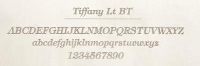 Tiffanyのレーザー刻印サンプル
