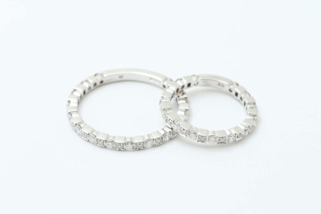 ダミアーニの結婚指輪ダイヤ抜け修理後