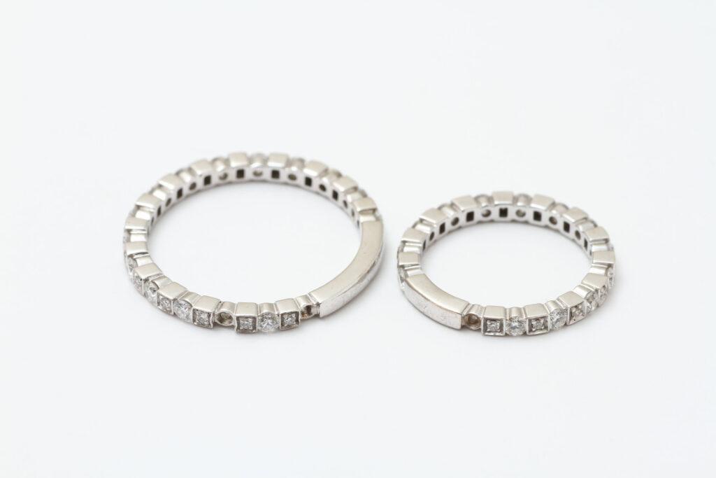 ダミアーニの結婚指輪ダイヤ抜け修理前