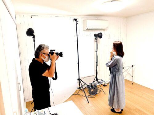 プロカメラマンによるシニアモデル撮影